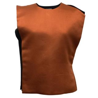 Lanvin Burnt Orange Asymmetrical Top