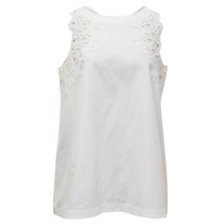 Ermanno Scervino White Cotton Sleeveless Top
