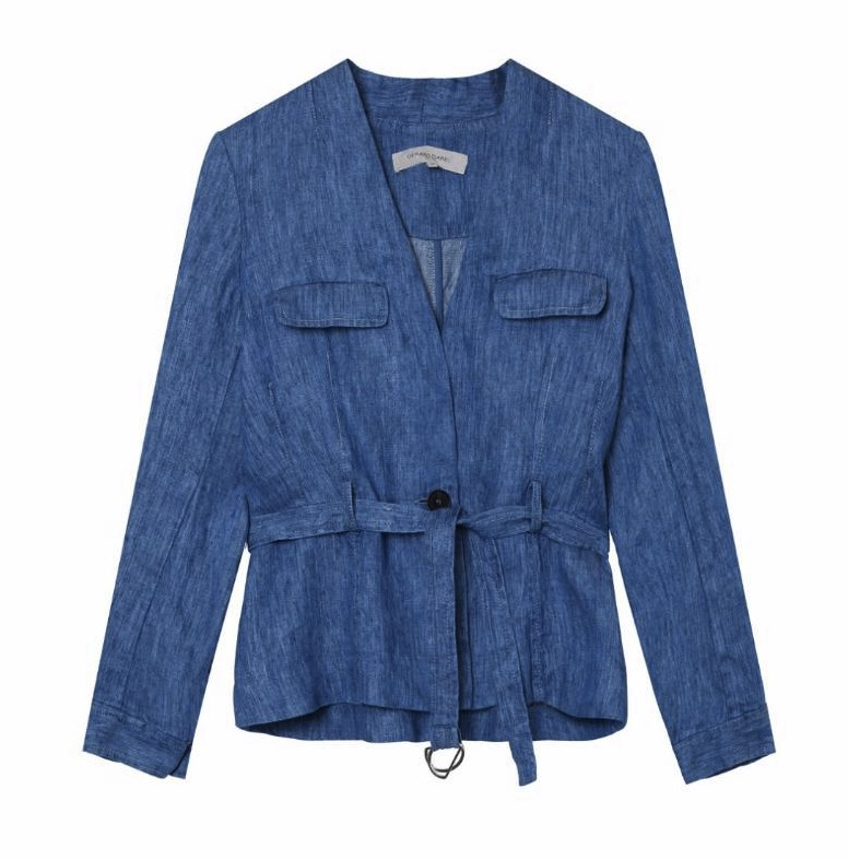 Gerard Darel blue linnen Amnesia jacket
