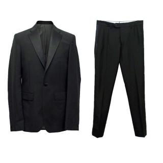 Acne Men's Black Wool and Mohair Tuxedo Suit