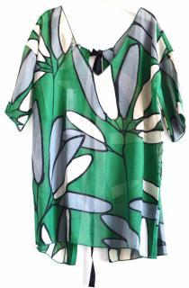 Marni silk blend open back blouse