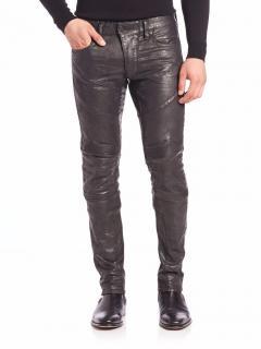 Ralph Lauren Black Label black coated biker jeans
