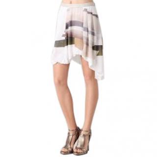 Helmut Lang Fulcrum Print Skirt
