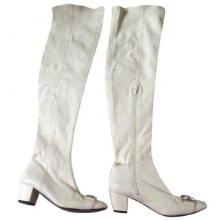 Versace White Boots