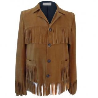 Saint Laurent Suede Curtis Fringe Jacket