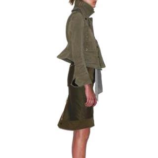 Celine army green cotton pencil skirt