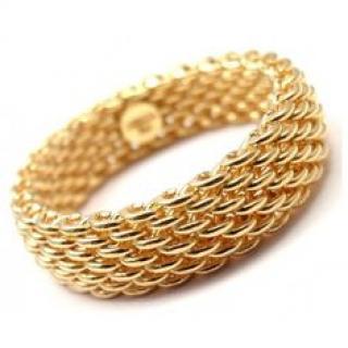 Tiffany & Co Somerset Yellow Gold Mesh Ring