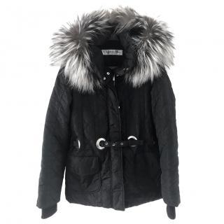 Dior fur trimmed quilted jacket