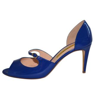 Rupert Sanderson Lorna Blue Leather Sandals
