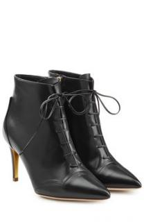 Rupert Sanderson Henty Black Leather Ankle Booties/Boots