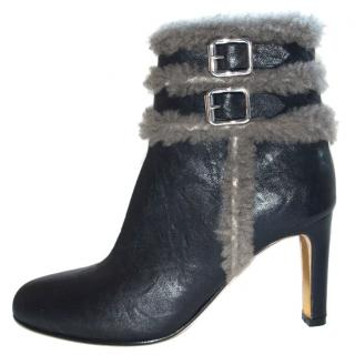 Rupert Sanderson  Black Leather Ankle booties/boots