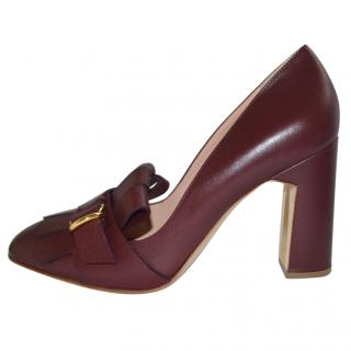 Rupert Sanderson Madge Prune Calf Leather shoes