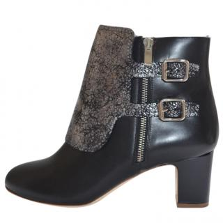 Nakota Black Leather Ankle Boots/Booties