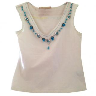 Roberto Cavalli Class Embellished Top