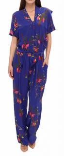 Vivienne Westwood Silk blend jumpsuit with floral motif