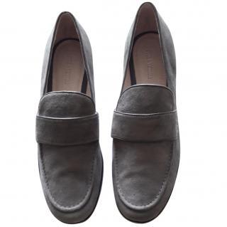 Pour La Victoire Grey Suede Loafers