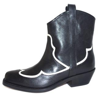 Rupert Sanderson Black Leather Biker Boots
