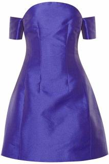 Carven strapless blue dress