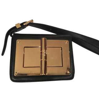 Tom Ford Natalia Black and Gold Bag