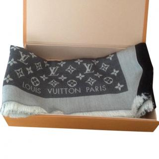 Louis Vuitton Black Denim Scarf