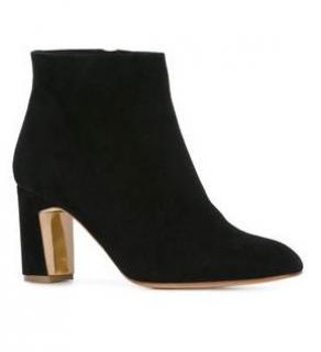 Rupert Sanderson Queenie Black Suede Ankle Booties/Boots