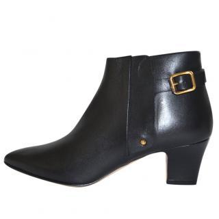 Rupert Sanderson Shannon Black Calf Leather Ankle Booties