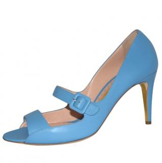 Rupert Sanderson Sky Blue Calf Leather High Heel Shoes