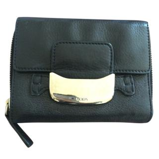 Tods Black Leather Purse