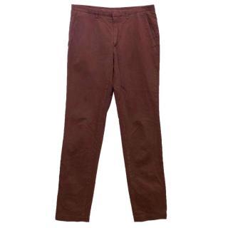 Kenzo Men's Plum Cotton Trousers