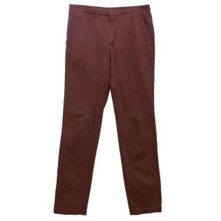 Kenzo Men's Plum Cotton Trousers