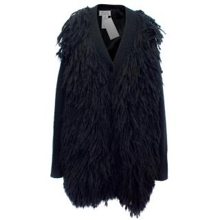 Maison Martin Margiela Alpaca and Wool Blend Knitted Cardigan