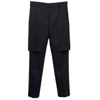 Phillip Lim Men's Dark Grey Wool Trousers
