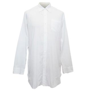 Dries van Noten Men's White Cotton Shirt