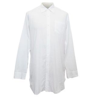 Dries van Noten Men's White Cotton Shirt
