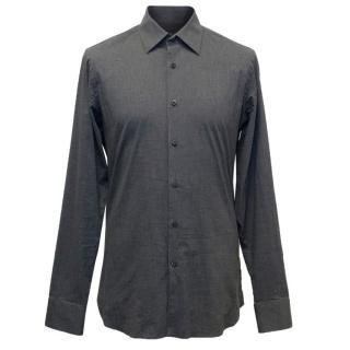 Prada Men's Grey Cotton Blend Shirt