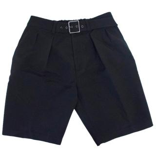 Phillip Lim Men's Black Belted Shorts