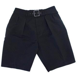 Phillip Lim Men's Black Belted Shorts
