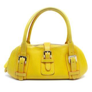 Loewe Yellow Pebbled Leather Handbag