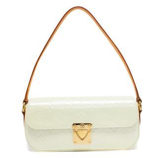 Louis Vuitton Patent Leather Pale Yellow Monogram Shoulder Bag