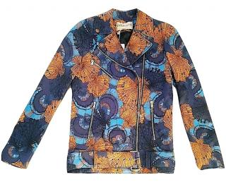 EMILIO PUCCI Shell Print Leather Biker jacket