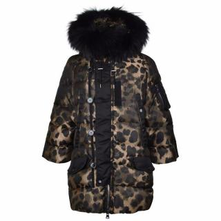 Moncler Padded Fur Coat