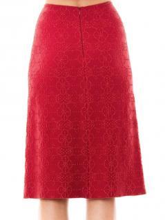Alaia Arabesque red skirt