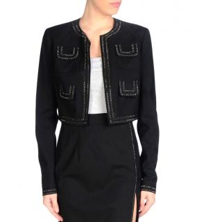 JOHN RICHMOND Embellished Black Cropped Jacket