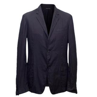 Prada Men's Navy Relaxed Fit Casual Blazer