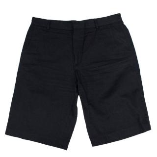 Givenchy Men's Black Cotton Shorts with Flap Pockets