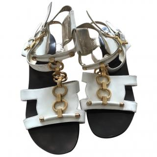 Roberto Cavalli Gladiator Style Sandals with Rings
