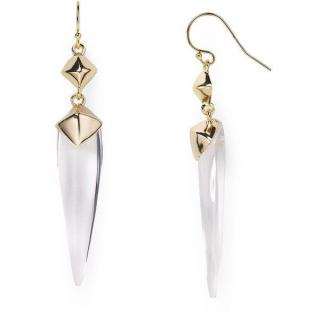 Alexis Bittar Lucite Double Pyramid Drop Earrings