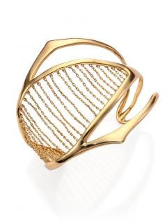 Alexis Bittar Miss Havisham Kinetic Chain-Ribbed Cuff Bracelet