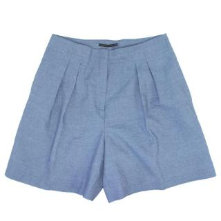 Ermanno Scervino Light Blue Linen Shorts