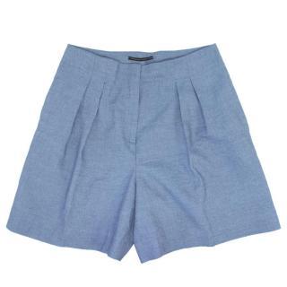 Ermanno Scervino Light Blue Linen Shorts